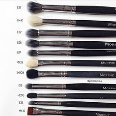 Cat: What are your favourite eye brushes from @morphebrushes? There are so many more I want to try  ...