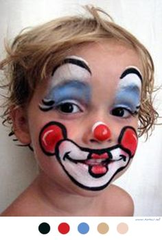 "J'adore Le ""Do It Yourself"" Maquillage De Clown - #DIY #Maquillage #Enfants #Kids"