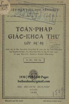 Toán Pháp Giáo Khoa Thư Lớp Dự Bị (NXB Nha Học Chính 1930) - Trần Trọng Kim, 100 Trang | Sách Việt Nam Personalized Items
