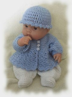Ravelry: Sweet Baby Boy Romper for 14 to 15 inch Chubby Baby Doll pattern by Amy Carrico