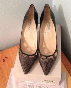 df831bc68e Jimmy Choo High (3-4.5 in.) Court Slim Heel Shoes for Women | eBay