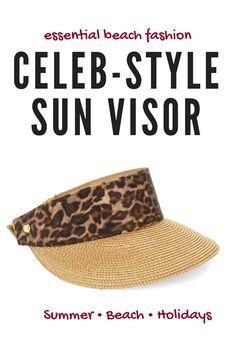 789c4cee Leopard cheetah print straw sun visor for #summer #beach holidays #ad  Nautical Theme