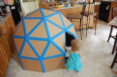 Playful Geometric Domes : DIY cardboard playhouse