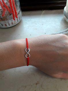 SILBER-925-Herz-Infinite-Armband-NEU-HANDMADE-Viele-Farben-Damen-Herren