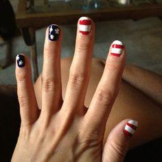Patriotic nail polish
