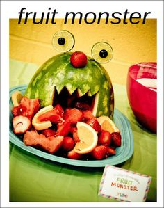 Fruit Monster for kids' parties.
