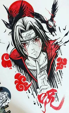 Desenho do Itachi Anime naruto Naruto Drawings, Naruto Sketch, Anime Drawings Sketches, Anime Sketch, Cartoon Drawings, Cool Drawings, Drawing Faces, Nose Drawing, Realistic Drawings