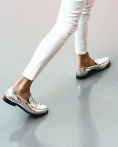 Silver Loafers and White Skinnies