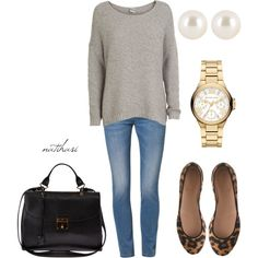 Simple and casual work outfit by natihasi on Polyvore