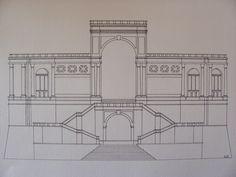 Bastione Saint Remy (Cagliari) hand draw, 15x21_Angolo23