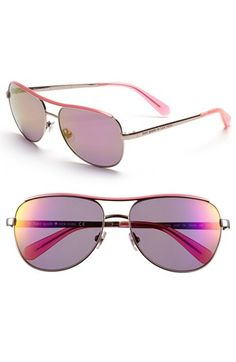kate spade new york 'dusty' 56mm metal aviator sunglasses available at #Nordstrom