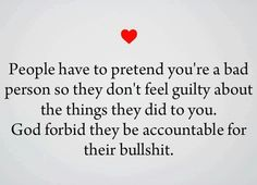 Some are never held accountable for anything its always everyone else's fault. Well my darlings its all gonna come right back to ya.