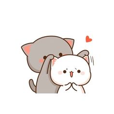 34 Ideas Drawing Cute Couple Posts For 2019 Chibi Cat, Kawaii Chibi, Kawaii Cat, Cute Chibi, Cute Love Pictures, Cute Love Gif, Cute Cat Gif, Cute Cats, Kawaii Drawings