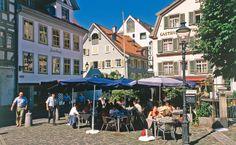 St.Gallen in der Schweiz, liegt unweit des #Bodensee St Gallen, Street View, Contemporary Art, Old Town, Switzerland, Places