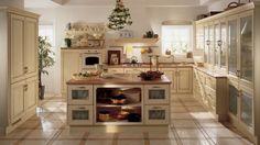 cuisine blanche et bois style campagne Belvedere par Scavolini