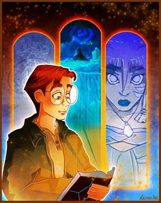 Atlantis: The Lost Empire (2001) ~~ Animation | Adventure | Family ~~ A young adventurer named Milo Thatch joins an intrepid group of explorers to find the mysterious lost continent of Atlantis ~~ Artwork by Lisa Moran