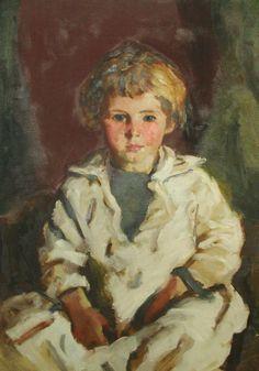"""Little Girl ('Cissie'),"" Robert Henri, oil on canvas, 24 x Yale University Art Gallery. American Realism, American Artists, William Glackens, Francoise Gilot, Ashcan School, Blond, Robert Henri, Most Famous Artists, Z Arts"