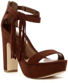 45512e364c8 Carlos By Carlos Santana Audrina Platform Sandal - Sizing  True to size.  Open toe Faux suede construction Dual ankle strap with elastic inset and  fringe ...