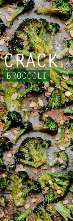 CRACK broccoli Roasted broccoli with toasted almonds, lemon, red pepper flakes, and pecorino. This r...