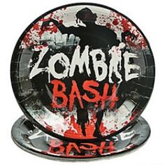 Zombie Party Supplies, Zombie Dinner Plates, Zombies Tableware