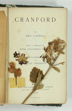 """novsaut: """" Cranford title page and pressed flowers """""""