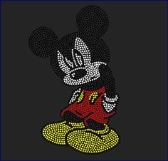Disney's Mickey Mouse Inspired Fan Art Rhinestone Iron On Transfer Hot Fix | eBay