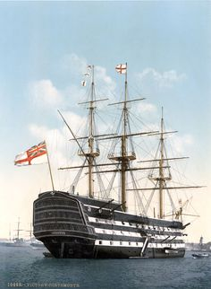 HMS Victory - Flagship of the Empire  . Military Ship