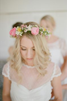 We can't get enough of this beautiful flower crown | Photography: Casey Jane Photography - caseyjanephotography.com  Read More: http://www.stylemepretty.com/australia-weddings/2014/12/16/rustic-meets-romantic-queensland-wedding/