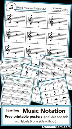 Printable Music Notation Posters (Free)