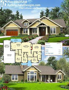 Plan 69677AM: Handsome Craftsman House Plan | Craftsman house plans on