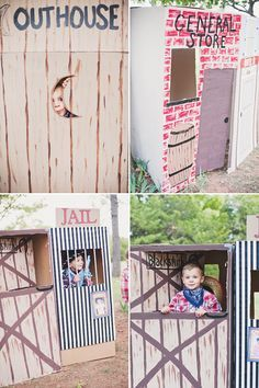 design a cardboard box western town | Wild West Cowboy Party {Joint Birthday} // Hostess with the Mostess??