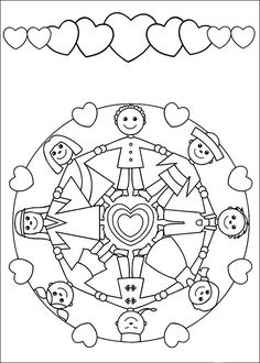 Mandalas bring relaxation and comfort to adults all over the world. Mandalas are one of our favorite things to color. Kids can color them too! We have some more simple mandalas for kids to color. Mandalas for Kids Earth Day Coloring Pages, Mandala Coloring Pages, Colouring Pages, Printable Coloring Pages, Coloring Pages For Kids, Adult Coloring, Coloring Books, Kids Coloring, Child Day