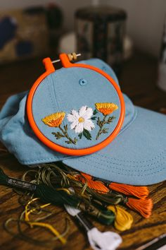74eed76035e Custom embroidered hats by Lexi Mire    hand embroidery Hat Embroidery