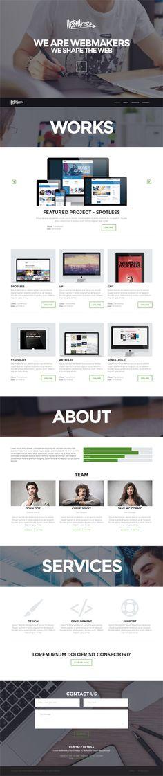 Webmakers - Single Page WordPress Theme