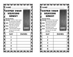Weaving Measuring Chart $2@TpT