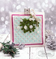 Mistletoe Felt Card & Ornament Tag by Julia Stainton for Taylored Expressions