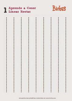 Plantillas para aprender a coser a maquina | Aprender manualidades es facilisimo.com
