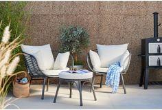 Garden Egg Lounge Set Patio Coated Steel Frame Summer Furniture Rattan Footstool
