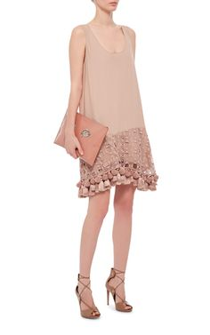 Eyelet And Tassel Mini Dress by NO. 21