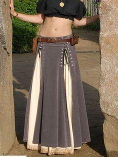 Puffy Skirt, Lace Up Skirt, Denim Skirt, Denim Jeans, Robes Vintage, Vintage Skirt, Vintage Clothing, Gypsy Clothing, Vintage Dresses Online