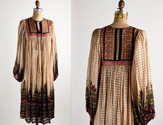 L A B E L  ritu kumar for judith ann | joseph magnin | M  pure silk hand block printed | made in india | dry clean