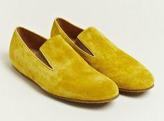 DRIES VAN NOTEN - Sarı süet pabuçlar