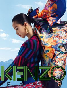 Kenzo accessories campaign: a sunny and inspiring butterfly scarf <3