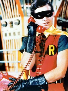 Burt Ward as Robin for the Batman TV series, 1960s