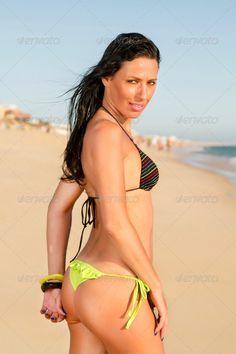 beautiful girl in the beach ...  bathed, beach, beautiful, bikini, body, caucasian, girl, happiness, happy, holidays, pose, sand, sea, sensual, sensuality, sexy, shore, shoreline, splash, summer, sun, sunny, vacation, water, white, woman, young