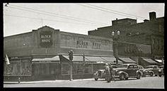 Block Brothers Store - Kenosha, WI. This building was opened on March 28, 1934 and located at the southeast corner of Sixth Ave. and 58th St. The picture was taken on Sunday morning, June 14, 1942.