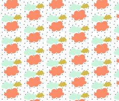 Colorful rainy day fabric by >>mintpeony<< on Spoonflower - custom fabric