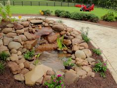 Beautiful Backyard Fish Pond Landscaping Ideas 3 image is part of 50 Beautiful Backyard Fish Pond Garden Landscaping Ideas gallery, you can read and see another amazing image 50 Beautiful Backyard Fish Pond Garden Landscaping Ideas on website Fish Ponds Backyard, Backyard Garden Landscape, Pond Landscaping, Backyard Water Feature, Landscaping With Rocks, Garden Ponds, Tropical Backyard, Garden Oasis, Landscaping Borders