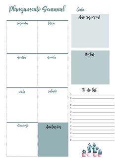 Planner 2019 Calendário Cactos Pdf Feriados Nacionais - R$ 20,00 em Mercado Livre Printable Planner, Planner Stickers, Free Printables, Download Planner, Agenda Planer, Bookbinding, Weekly Planner, Bujo, School Supplies