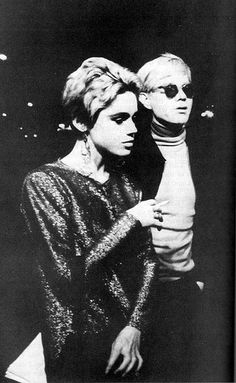 Edie Sedgwick with the fabulous Andy Warhol